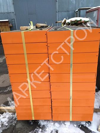 Щит стальной угловой внутренний (120 мм) 0,3х0,3х3,0 метра для опалубки стен
