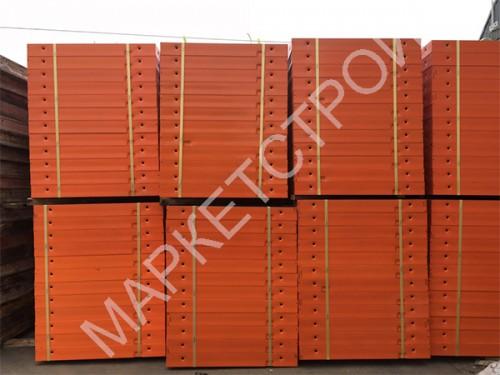 Щит стальной линейный (120 мм) 1,2х3 м для опалубки стен